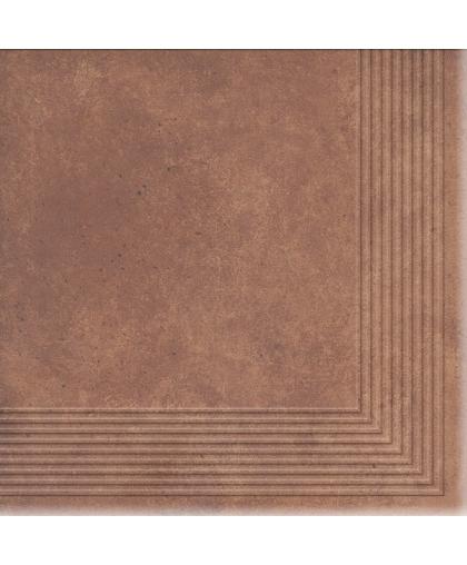 Коттедж / Cottage Chili tread tile (ступень угловая) 300 х 300