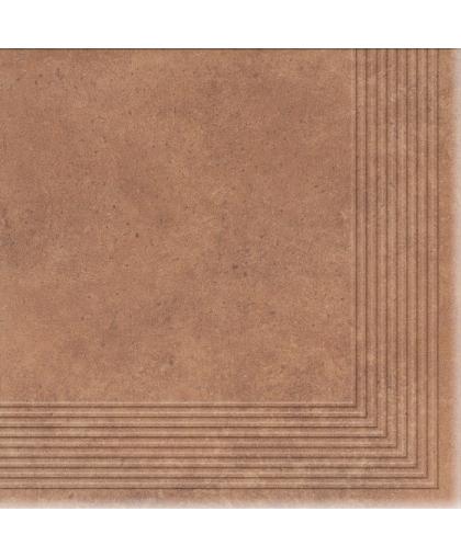 Коттедж / Cottage Curry tread tile (ступень угловая) 300 х 300 (под заказ)