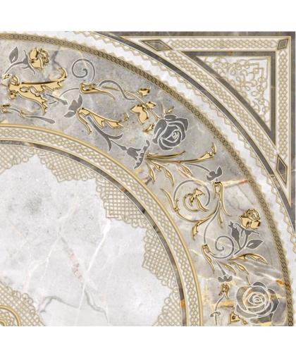 Isida / Исида декор белый угол (DFU03ISI024) 418 х 418