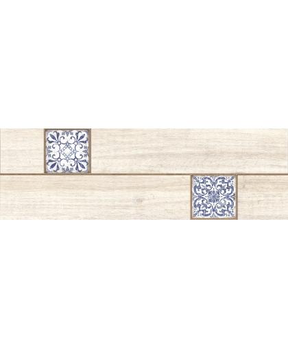 Ornamentwood / Орнаментвуд белый декор 598 x 185