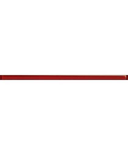 Бордюр стеклянный красный 750 х 30