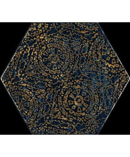 Урбан Колорс / Urban Colours Blue Glass Inserto Heksagon A 198 х 171
