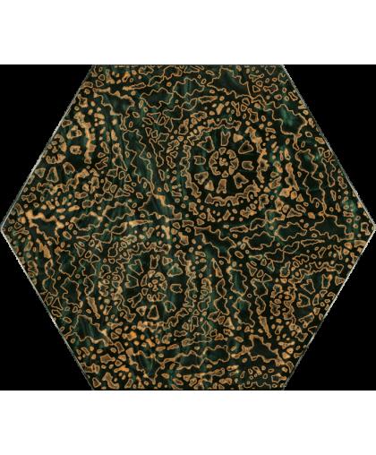 Урбан Колорс / Urban Colours Green Glass Inserto Heksagon A 198 х 171