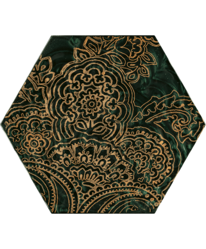 Урбан Колорс / Urban Colours Green Glass Inserto Heksagon B 198 х 171
