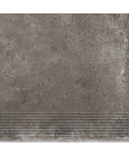 Пиатто / Piatto Antracite tread tile (ступень простая) 300 х 300 (под заказ)