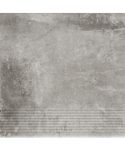 Пиатто / Piatto Gris tread tile (ступень простая) 300 х 300 (под заказ)