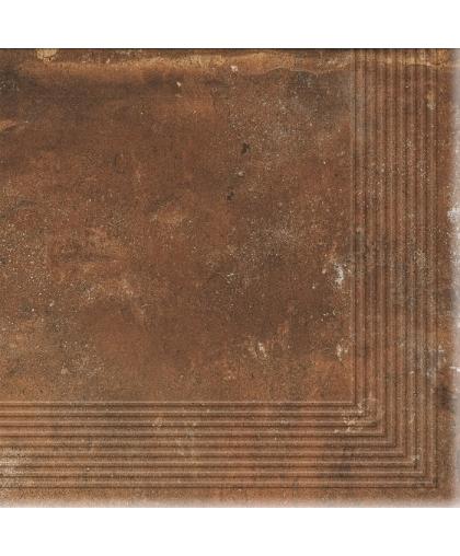 Пиатто / Piatto Red tread tile (ступень угловая) 300 х 300