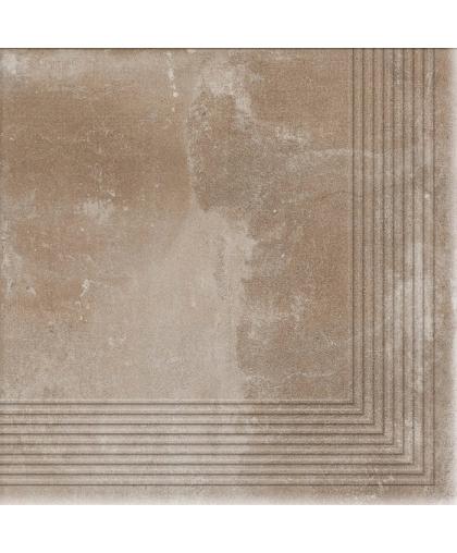 Пиатто / Piatto Sand tread tile (ступень угловая) 300 х 300