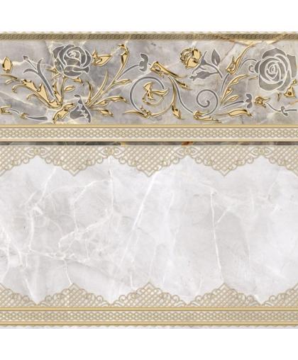 Isida / Исида декор белый (DFU03ISI004) 418 х 418