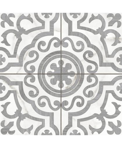 Siena / Сиена белый узоры структура 420 х 420