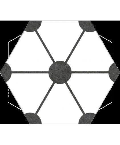 Атом / Atom White Hex 250 x 220 (под заказ)