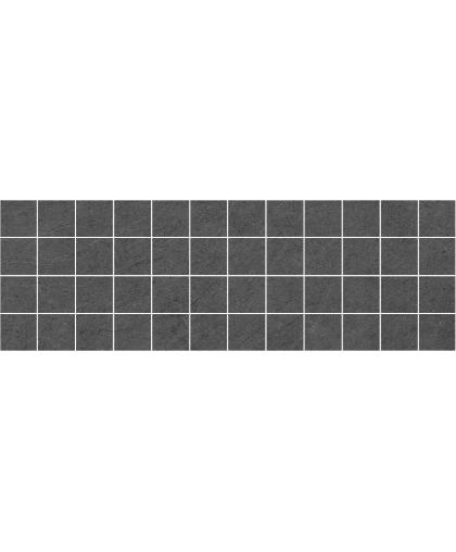 Story / Стори декор мозаичный черный камень 600 х 200