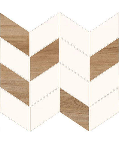 Лав Ю Нави / Love You White Half Mosaic Satin 290 х 290