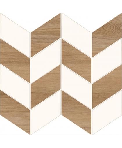 Лав Ю Нави / Love You White Full Mosaic Satin 290 х 290