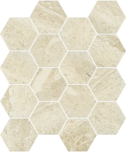 Санлайт / Sunlight Sand Beige Mosaic Hexagon 225 х 220