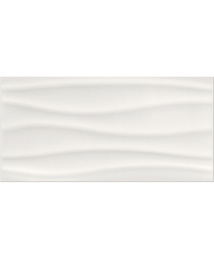 Бейсик палет / Basic Palette white glossy wave 600 х 297 (остаток)