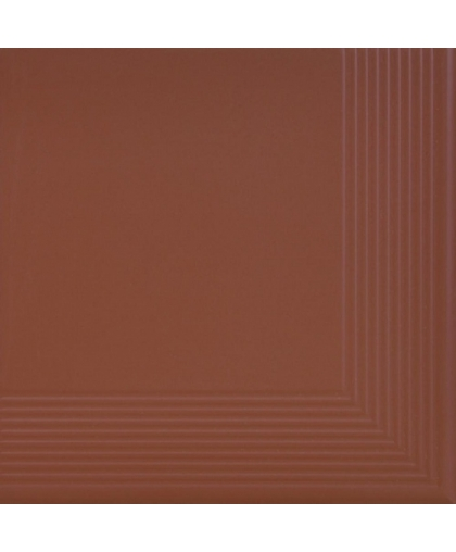 Бургунд / Burgund tread tile (ступень угловая) 300 х 300