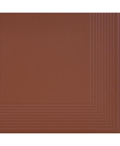Бургунд / Burgund tread tile (ступень угловая) 300 х 300