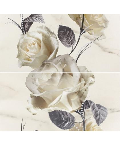 Каррара / Carrara Flower Inserto (2 плитки) 580 х 593 (под заказ)