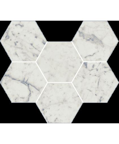 Шарм Экстра Каррара / Charme Extra Carrara Mosaico Gexagon 290 х 250