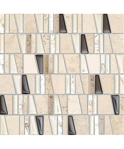 Дропс / Drops stone beige mosaic 300 х 300 (под заказ)