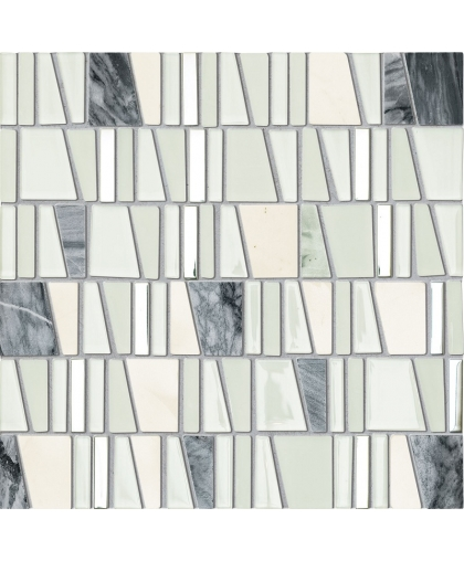 Дропс / Drops stone white mosaic 300 х 300 (под заказ)
