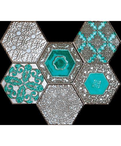 Лэйс / Lace absinthe wall mosaic 289 х 221 (под заказ)