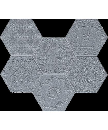 Лэйс / Lace graphite wall mosaic 289 х 221 (под заказ)