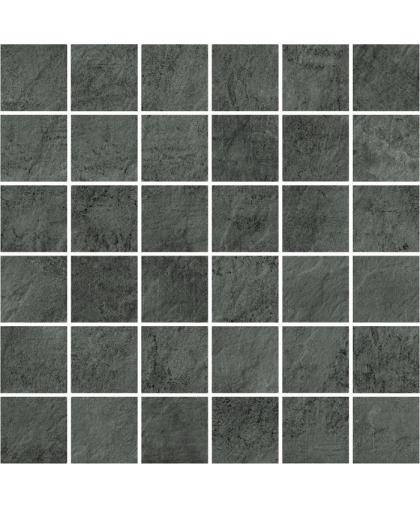 Петра / Pietra Dark Grey mosaic (универсальная) 297 х 297