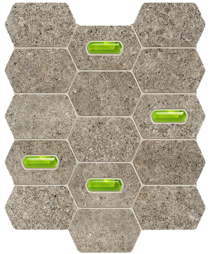 Лемон стоун / Lemon Stone grey wall mosaic 298 х 250 (под заказ)