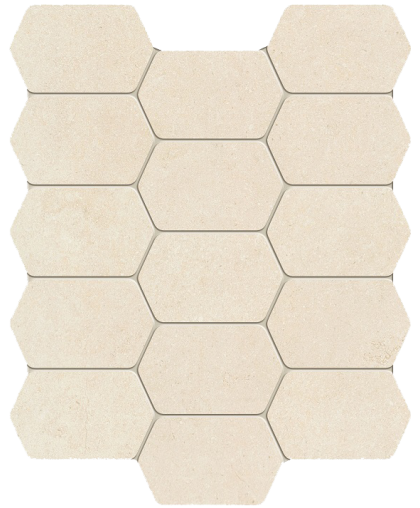 Лемон стоун / Lemon Stone white wall mosaic 298 х 250 (под заказ)
